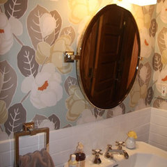 eclectic powder room by Claudia Martin, ASID