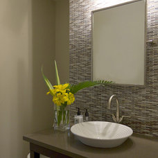 Contemporary Powder Room by ZWADA home
