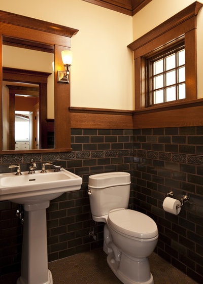 Craftsman Powder Room by Seavey Builders, Inc.