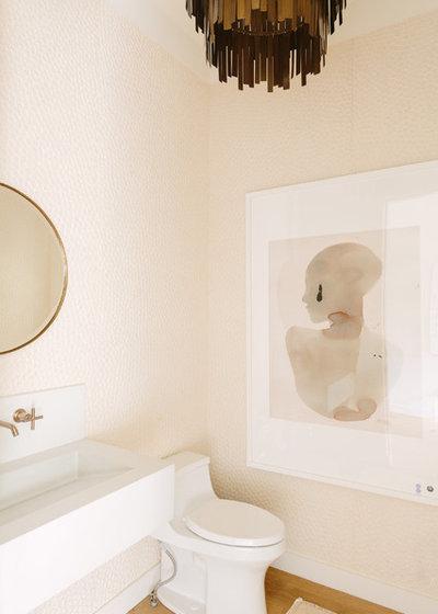 Mediterranean Powder Room by Redo Home and Design