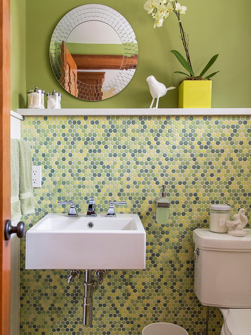 Green and yellow bathroom home design ideas pictures for Yellow and green bathroom ideas