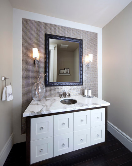 Contemporary Powder Room by Riverview Custom Homes