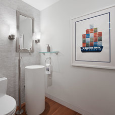 Contemporary Powder Room by Moroso Construction