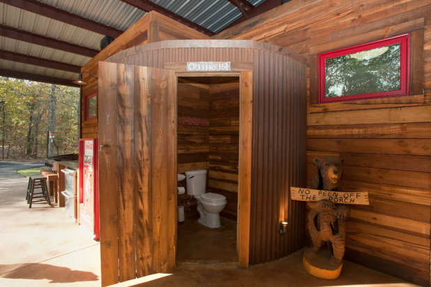 Rustic Powder Room by Wright-Built