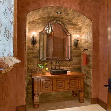 Rustic Powder room