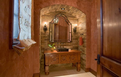 Traditional Powder Room by Milk and Honey Design
