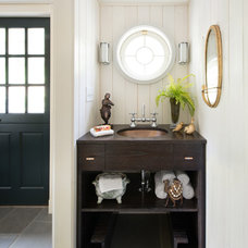 Eclectic Powder Room by Hannah Dee Interiors