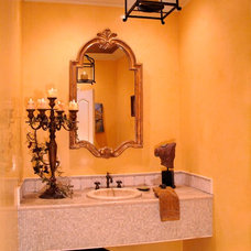 Traditional Powder Room by RDM Interiors