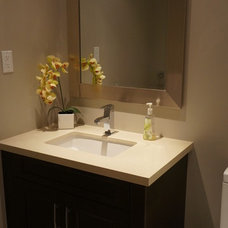 Contemporary Powder Room by Oakville Kitchen and Bath Centre