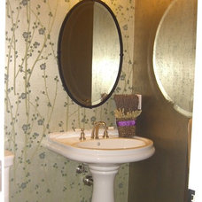 Eclectic Powder Room by Design Matters
