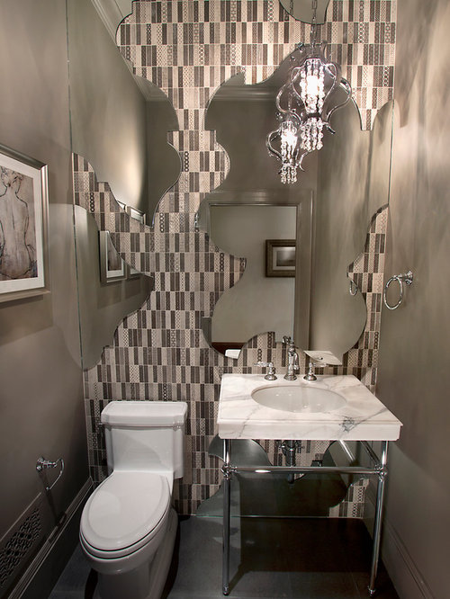 Example Of An Eclectic Powder Room Design In San Francisco Part 41