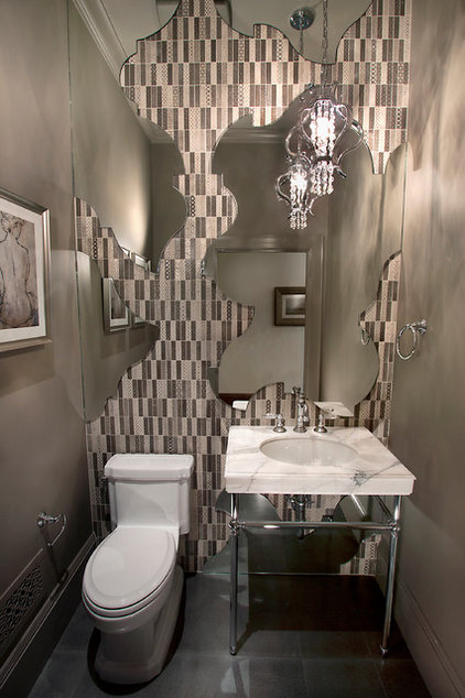 Eclectic Powder Room by KCS, Inc.
