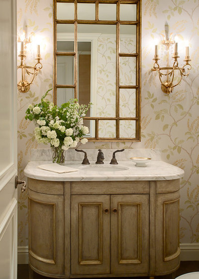 Traditional Powder Room by Tres McKinney Design