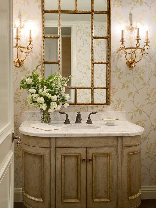 Contemporary Powder Room Vanities Home Design Ideas