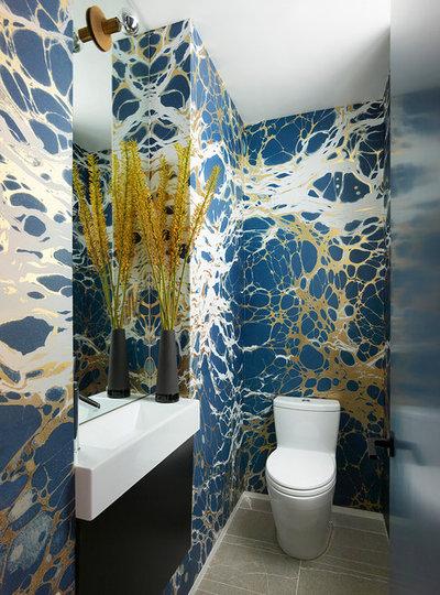 Contemporary Powder Room by Jamie Bush & Co.
