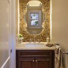 Traditional Powder Room by A.V. Builders Inc.