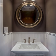 Contemporary Powder Room by A.V. Builders Inc.
