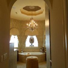 Mediterranean Powder Room by Grand Designs