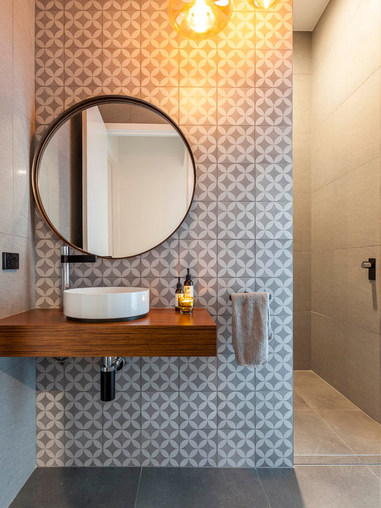 gray and white tile | houzz