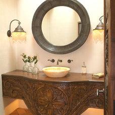 Eclectic Powder Room by Hamilton-Gray Design, Inc.