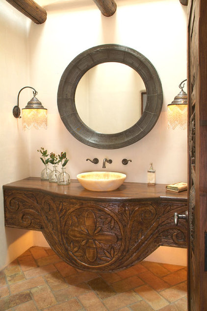 Eclectic Powder Room by Hamilton-Gray Design, Inc.
