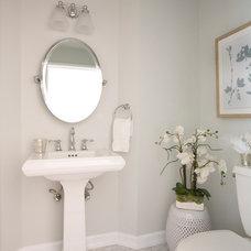 Traditional Powder Room by DesignHAUS 24