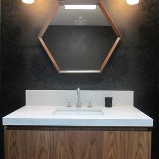 Réalisation d'un WC et toilettes minimaliste.