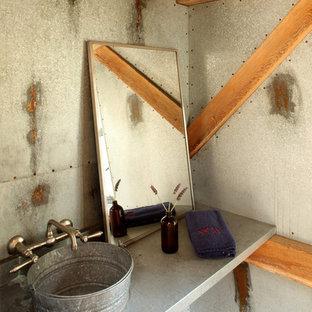 Exemple d'un WC et toilettes industriel avec une vasque.