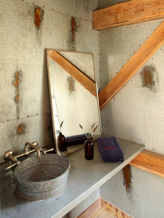 galvanized bathroom sink | houzz