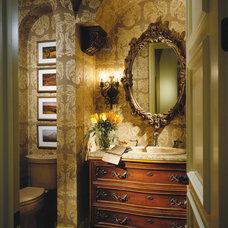Mediterranean Powder Room by Sater Design Collection, Inc.