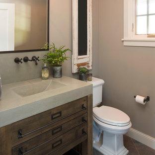 Aménagement d'un WC et toilettes craftsman.