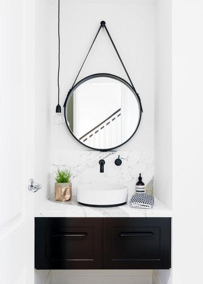 Skandinavisk Lille badeværelse Scandinavian Powder Room