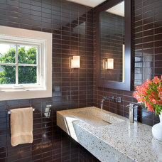 Contemporary Powder Room by Philip Babb Architect