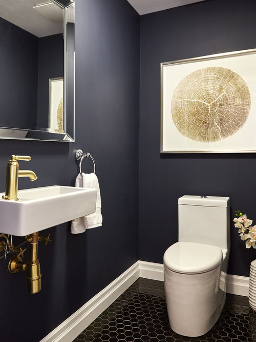 best transitional powder room design ideas remodel pictures houzz. Black Bedroom Furniture Sets. Home Design Ideas