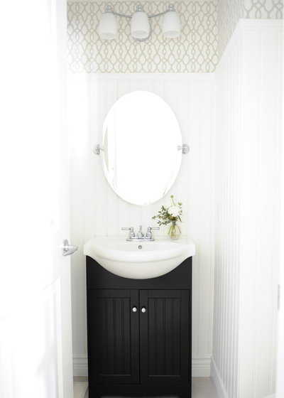 Transitional Powder Room by Simply Home Decorating