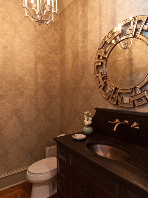 Powder Room Wallpaper Houzz