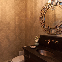 eclectic powder room by Anna Baskin Lattimore Design