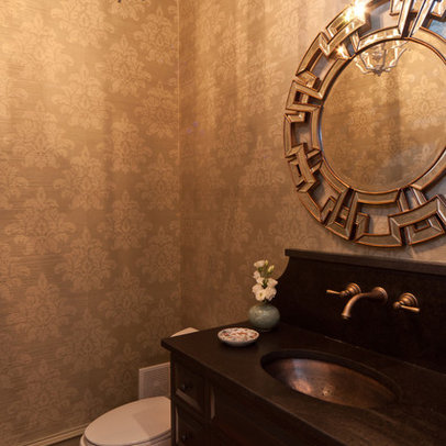 Sherwin Williams Wallpaper on Powder Room Manchester Tan Paint Design Ideas  Pictures  Remodel And