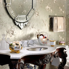 Powder Room by Laurel Feldman Interiors, IIDA