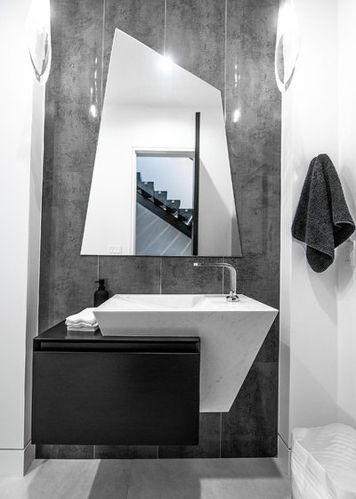 Contemporary Powder Room by PediniLA