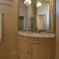 Traditional Powder Room by Brian Gille Architects, Ltd.