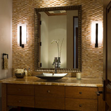 Contemporary Powder Room by Rybak Architecture & Development, P.C.