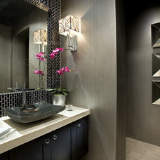 Contemporary Powder Room by Simpson Design Associates, LLC