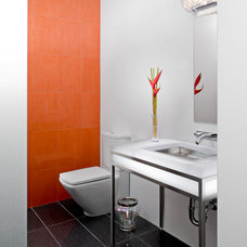 Contemporary Powder Room by Simply Modern