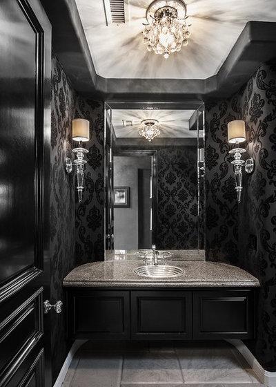 Contemporary Powder Room by Orange Coast Interior Design