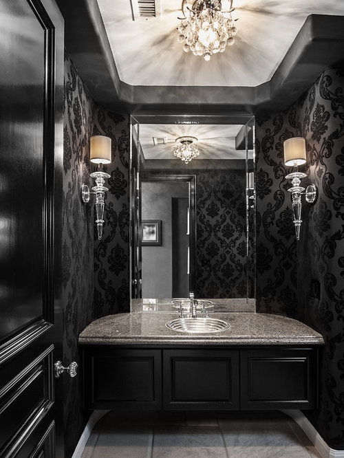 Black Powder Room Design Ideas Amp Remodel Pictures Houzz