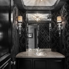 Contemporary Powder Room by Orange Coast Interior Design
