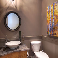 Traditional Powder Room by Solcorp Developments