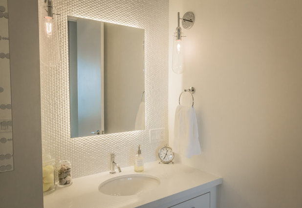 Contemporary Powder Room by Palmerston Design Consultants