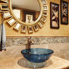 Eclectic Powder Room by Elizabeth Lindholm Interiors, Inc.
